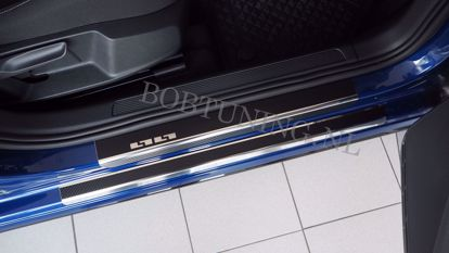 Afbeeldingen van Carbon rvs instaplijsten Volkswagen Caddy 2004-2020
