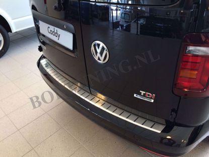 Afbeeldingen van Rvs bumperbescherming Volkswagen Caddy 2015-2020