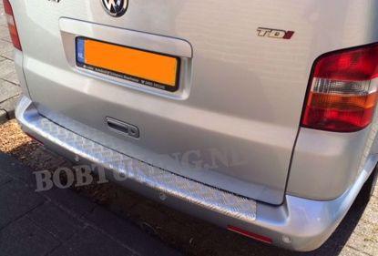 Afbeeldingen van Aluminium traanplaat bumperbescherming Volkswagen transporter t5 multivan caravelle 2003-2015