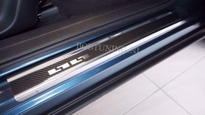Afbeeldingen van Carbon rvs instaplijsten Audi a6 (c6) 2006-2011
