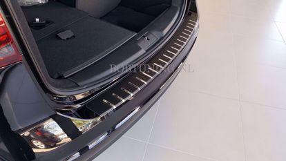 Afbeeldingen van Carbon rvs bumperbescherming Opel corsa e  (3deur / 5deur) 2014-2019