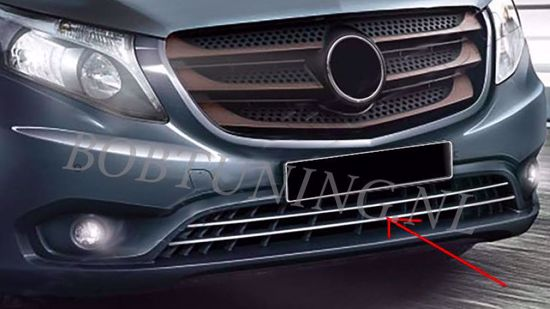 Afbeelding van Rvs bumper grill lijsten Mercedes vito w447 2014-