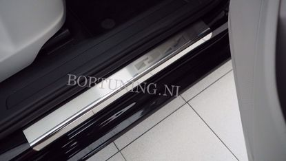 Afbeeldingen van Rvs instaplijsten Peugeot 407 (5deur) 2004-2011