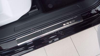 Afbeeldingen van Carbon rvs instaplijsten Citroen berlingo / Peugeot partner 1996-2008