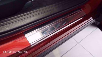 Afbeeldingen van Rvs instaplijsten Mitsubishi colt (3deur) 2004-2012