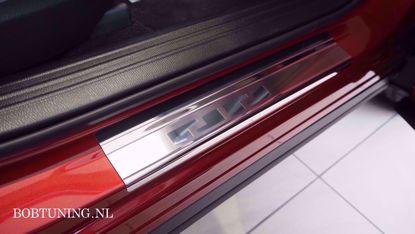 Afbeeldingen van Rvs instaplijsten Mitsubishi colt (5deur) 2004-2012