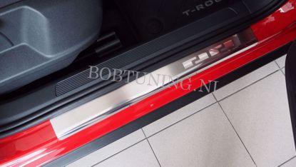 Afbeeldingen van Rvs instaplijsten Nissan micra (3deur) 2003-2010