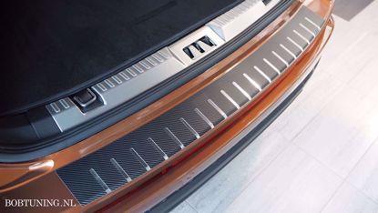 Afbeeldingen van Carbon rvs bumperbescherming Toyota Avensis (kombi) 2009-2015