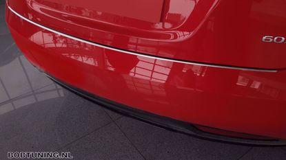 Afbeeldingen van Rvs (zwart-rood carbon fiber) bumperbescherming Tesla model s 2016-