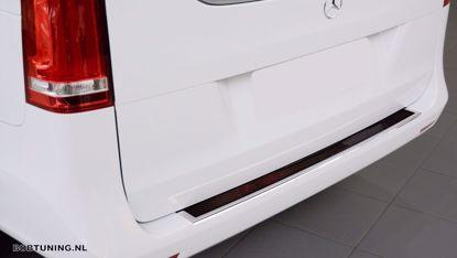 Picture of Rvs (zwart-rood carbon fiber) bumperbescherming Mercedes vito w447 2014-2019 | 2020+