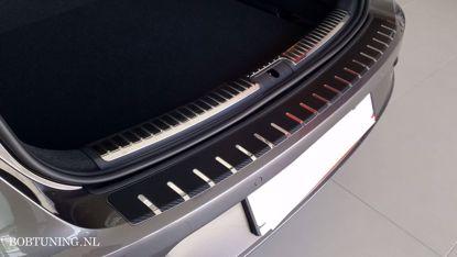 Afbeeldingen van Carbon rvs bumperbescherming Mazda 6 (kombi) 2008-2010