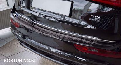 Afbeeldingen van Zwart rvs bumperbescherming Audi Q5 2008-2016