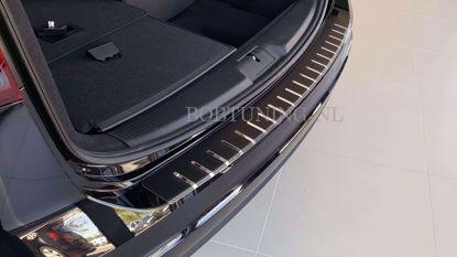 Afbeeldingen van Carbon rvs bumperbescherming Ford focus (kombi) 2018-