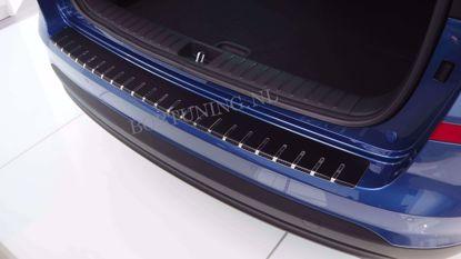 Afbeeldingen van Carbon rvs bumperbescherming Ford focus (kombi) 2011-2018