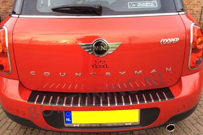 Afbeeldingen van Carbon rvs bumperbescherming Mini countryman R60 2010-2016