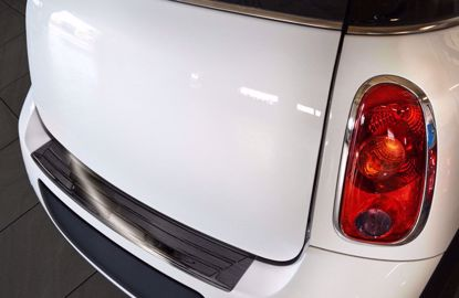 Afbeeldingen van Grafiet rvs bumperbescherming Mini Countryman R60 2010-2016