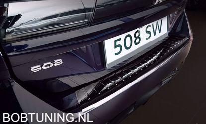 Afbeeldingen van Grafiet rvs bumperbescherming Peugeot 508sw (kombi) 2018-