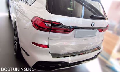 Picture of Zwart Rvs bumperbescherming Bmw X7 G07 M-pakket 2018-