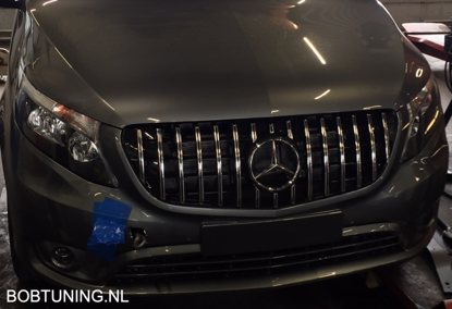 Picture of Grill AMG GT GTR style Nieuwe Mercedes vito w447 2020- Panamericana chroom