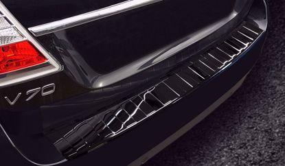 Afbeeldingen van Zwart rvs bumperbescherming Volvo V70 2014-2016