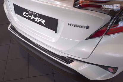 Afbeeldingen van Rvs grafiet + zwart carbon fiber 3D bumperbescherming Toyota C-HR 2016-