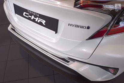 Afbeeldingen van Rvs + zwart carbon fiber 3D bumperbescherming Toyota C-HR 2016-