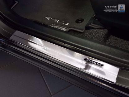 Afbeeldingen van Rvs instaplijsten (zwart embleem EXCLUSIVE) Toyota C-HR 2016-