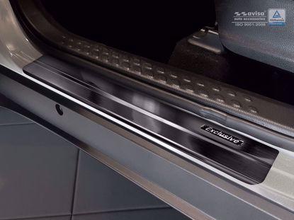 Afbeeldingen van Zwart rvs instaplijsten (zwart embleem EXCLUSIVE) Toyota C-HR 2016-