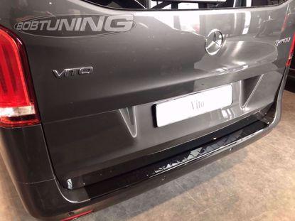 Picture of Zwart rvs bumperbescherming Mercedes Vito W447 | V-klasse 2014-2019 | 2020+