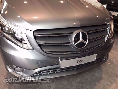 Picture of Rvs grill lijsten Mercedes Vito Facelift w447 2020-