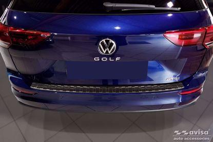 Afbeeldingen van Rvs grafiet bumperbescherming Volkswagen golf 8 (variant) 2020+