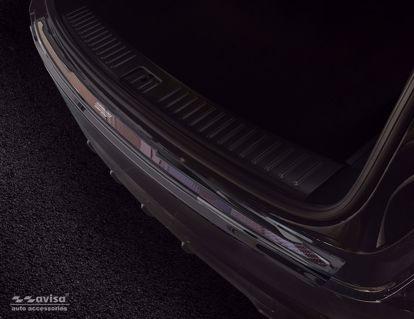 Afbeeldingen van Rvs (zwart-rood carbon fiber) bumperbescherming Porsche Cayenne 2017- (Performance)