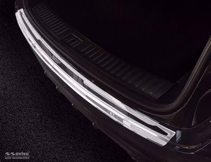 Afbeeldingen van Rvs (gepolijst + zwart  carbon fiber) bumperbescherming Porsche Cayenne 2017- (Performance)
