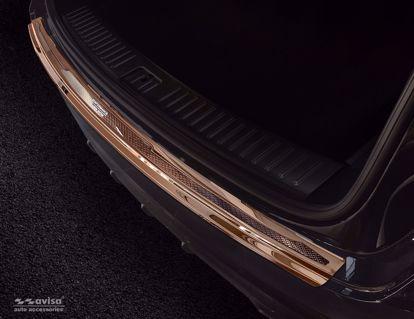 Afbeeldingen van Koper (gepolijst + koper carbon fiber) bumperbescherming Porsche Cayenne 2017- (Performance)