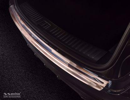 Afbeeldingen van Koper (geborsteld + koper carbon fiber) bumperbescherming Porsche Cayenne 2017- (Performance)